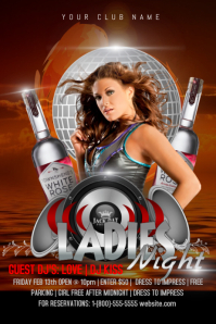 Ladies Night Iphosta template