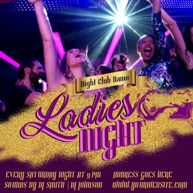 Ladies Night Promo Video Template
