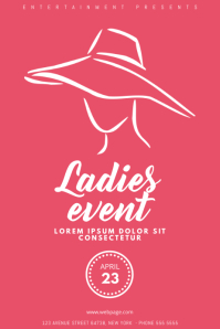 Ladies Pink Party Night Flyer Template
