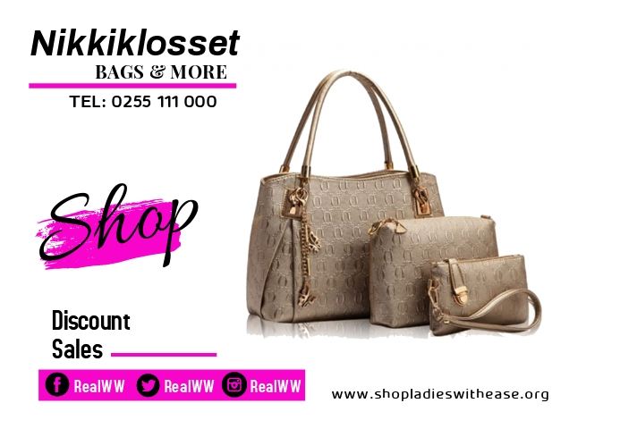 Ladies SHOP and bags A2 template
