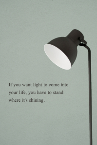 Lamp Motivational Quote Poster