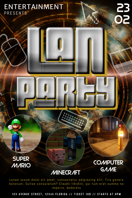 lan party flyer template