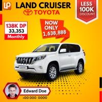 Land Cruiser Instagram-Beitrag template