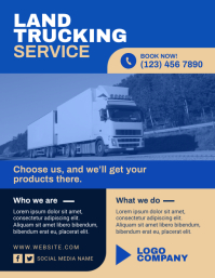 Land Trucking Service Flyer (US Letter) template