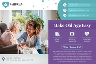 Landscape Assisted Living Poster template