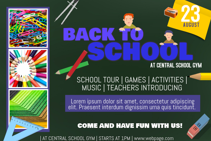 Landscape back to school flyer template | PosterMyWall