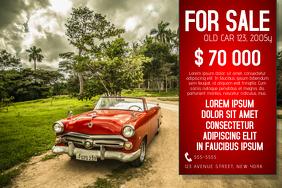 landscape car sale flyer template