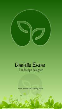 Landscape designer Business Card template