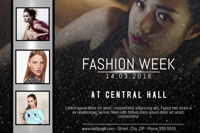 landscape fashion week poster flyer template three photos