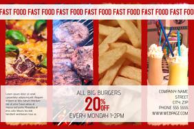 landscape fast food flyer template