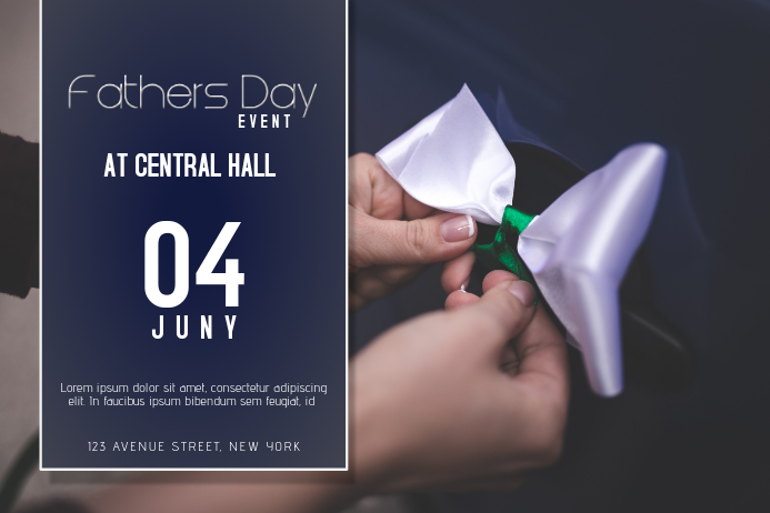 Landscape Fathers Day Event Flyer Template Postermywall