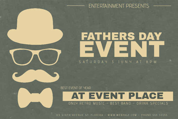 landscape fathers day event flyer template – Event Flyer
