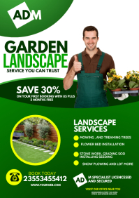 Landscape flyer A4 template