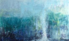 Landscape in Blues artistic prints for home decor