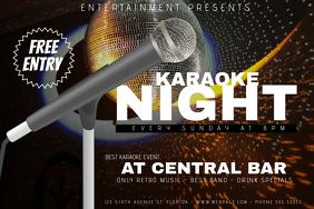 landscape karaoke night flyer template