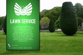 landscape lawn service business flyer template