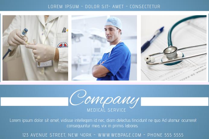 Landscape Medical Service Flyer template