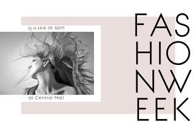 landscape minimalist fashion week flyer template