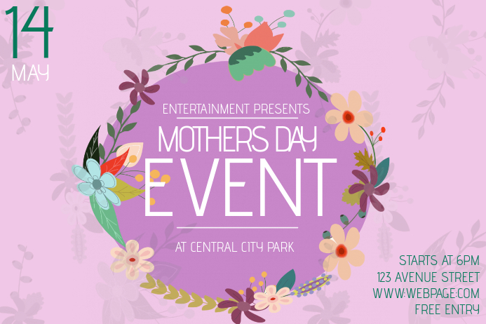 landscape mothers day event flyer template