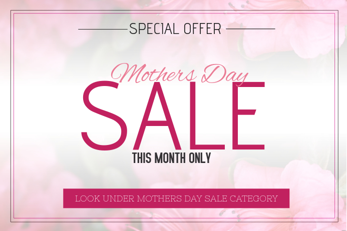 Landscape mothers day sale flyer template Poster