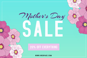 landscape mothers day sale flyer template