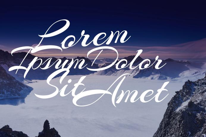 landscape multipurpose mountain text template