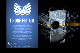 landscape phone repair service business template