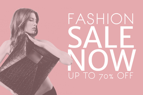 Landscape Pink Fashion Sale Flyer Template