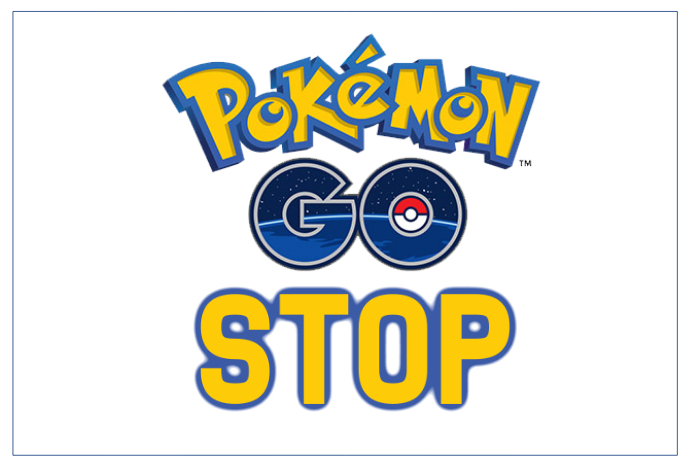 landscape pokemon go stop sign poster template postermywall. Black Bedroom Furniture Sets. Home Design Ideas