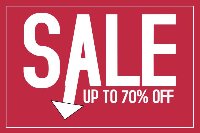 Landscape retail sale promotion simple flyer template