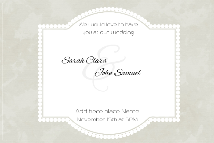 landscape romantic wedding anniversary invitation