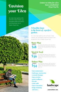 Lawn Service Flyer Templates Postermywall Landscape