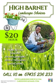landscape services flyer