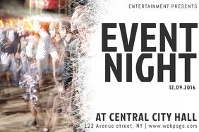 landscape simple event concert flyer template