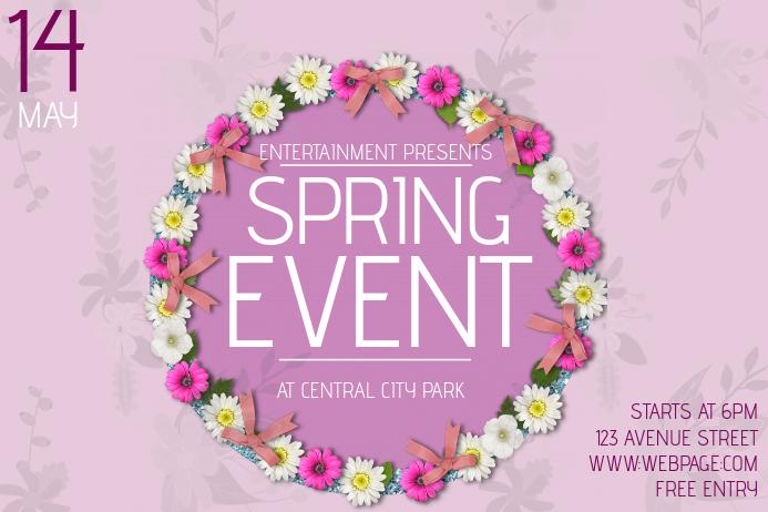 landscape spring event flyer template