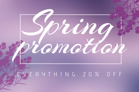 Landscape Spring Promotion Sale flyer template