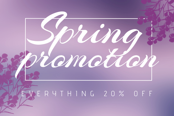 Landscape Spring Promotion Sale Flyer Template  Postermywall