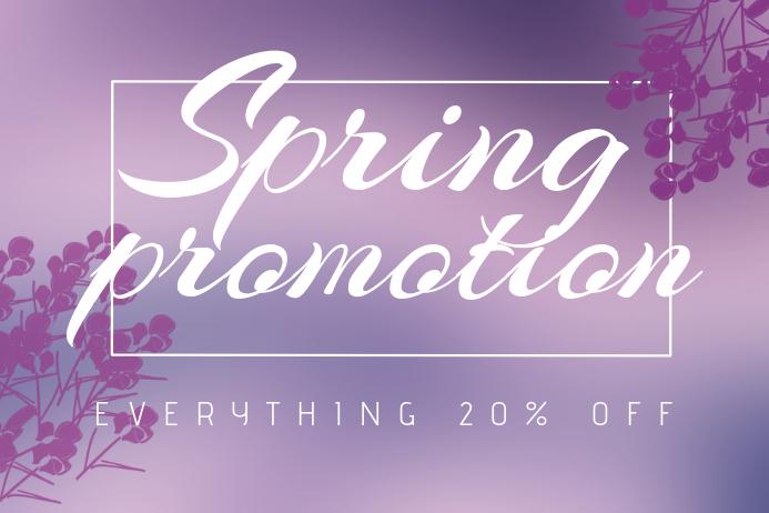Landscape Spring Promotion Sale flyer template