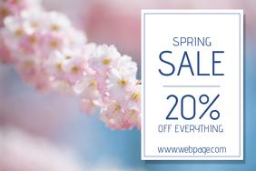 landscape spring sale flyer template