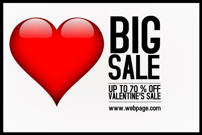 Landscape Valentine's Day Sale Flyer Template