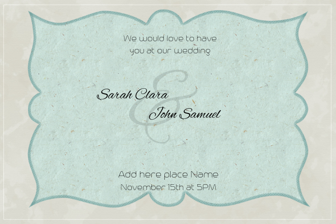 landscape wedding invitation template