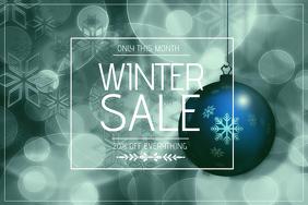 landscape winter sale flyer template