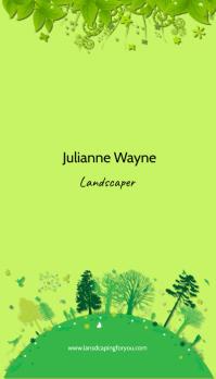 landscaper Business Card template