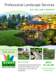 Landscaping Flyer (US Letter) template