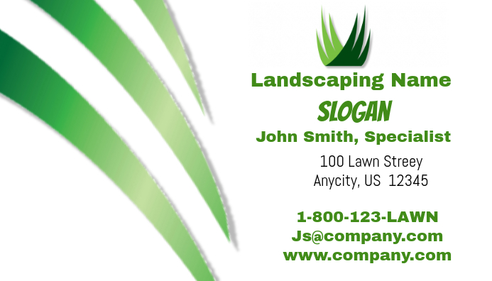 Landscaping business card template postermywall landscaping business card template accmission Images