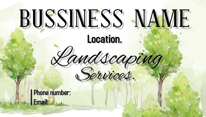 landscaping Visitkort template