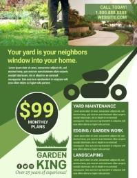 Landscaping Flyer (US Letter) template