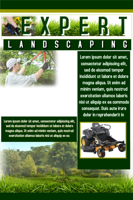 Landscaping Flyer Template Postermywall