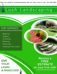 Customizable Design Templates For Landscape PosterMyWall - Landscaping flyer templates