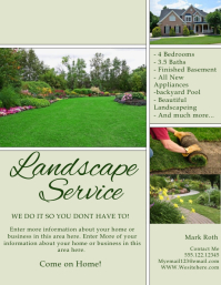 Lawn service flyer templates postermywall for Landscaping flyers templates